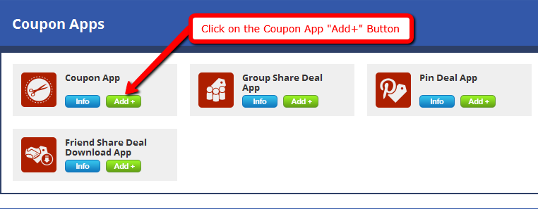 Coupons template app